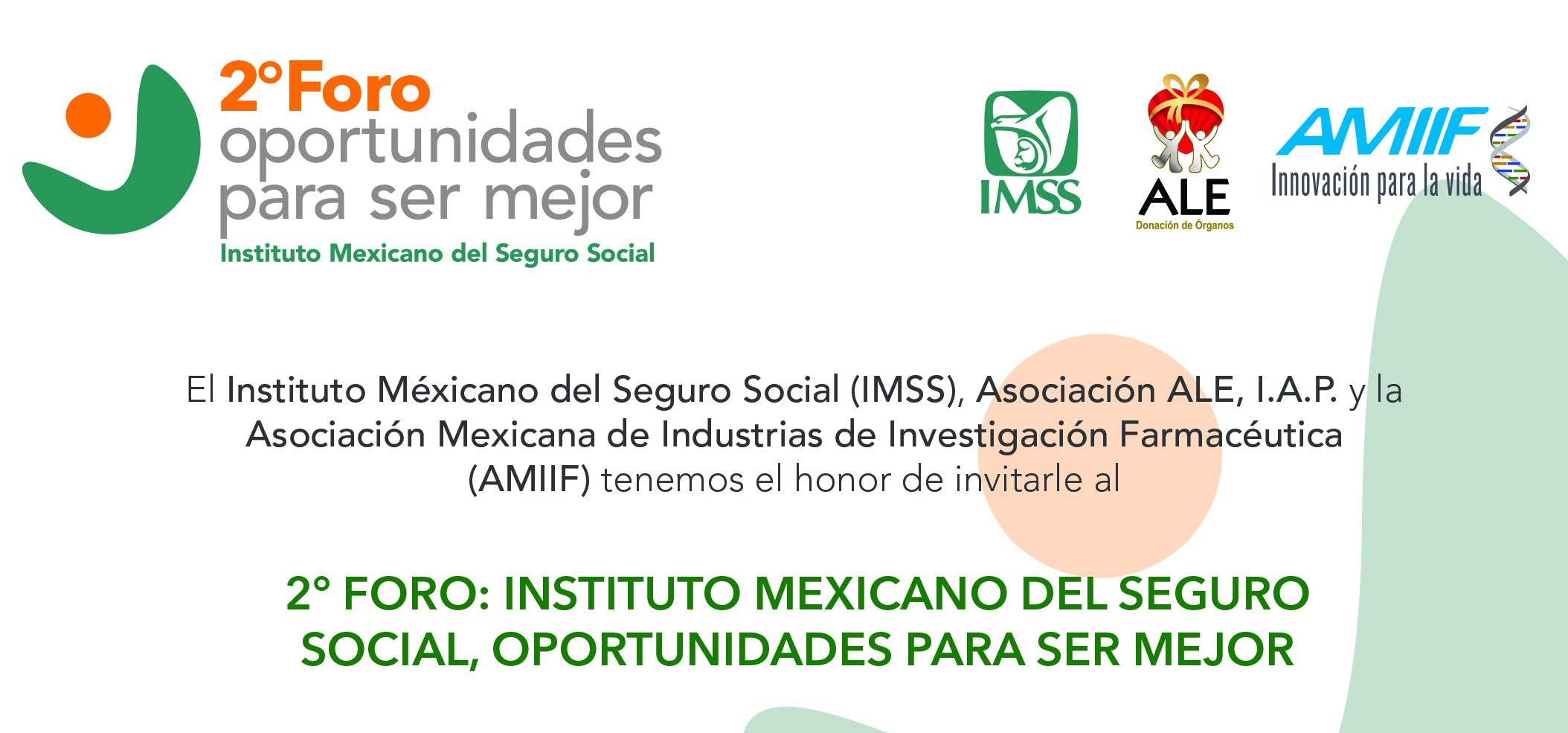 Invitacion ForoIMSS_OportunidadesparaserMejor